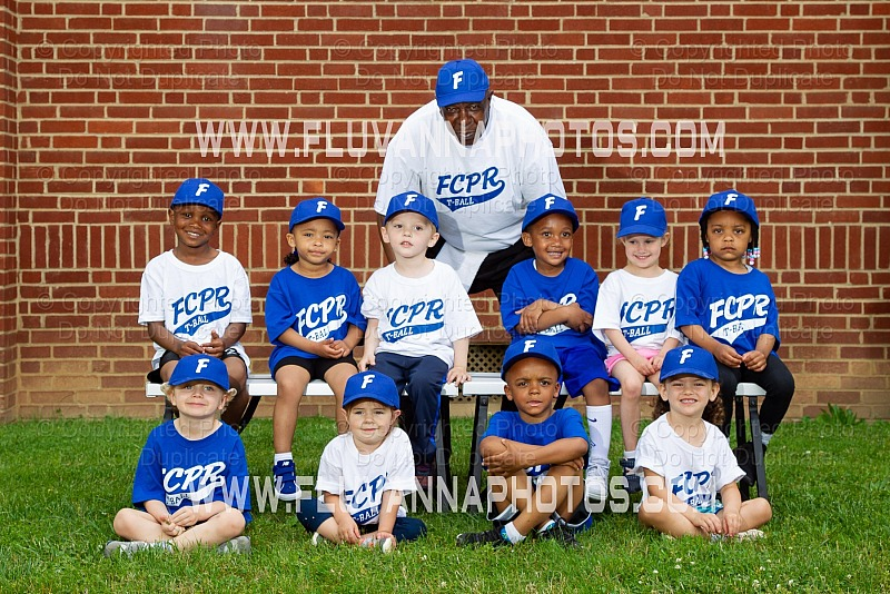 FCPR T-Ball Team/Individual Photos - 2019