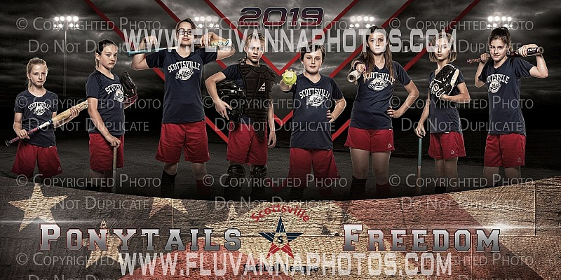 Freedom Softball Team Banner Print