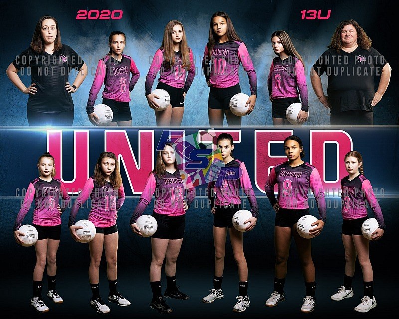 United Volleyball Team/Individual Photos - 2020